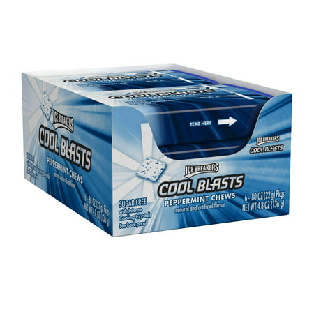 Ice Breakers, Cool Blasts PepperMints Chews Mints, 0.8 Oz (Pack of - Icebreaker Cards