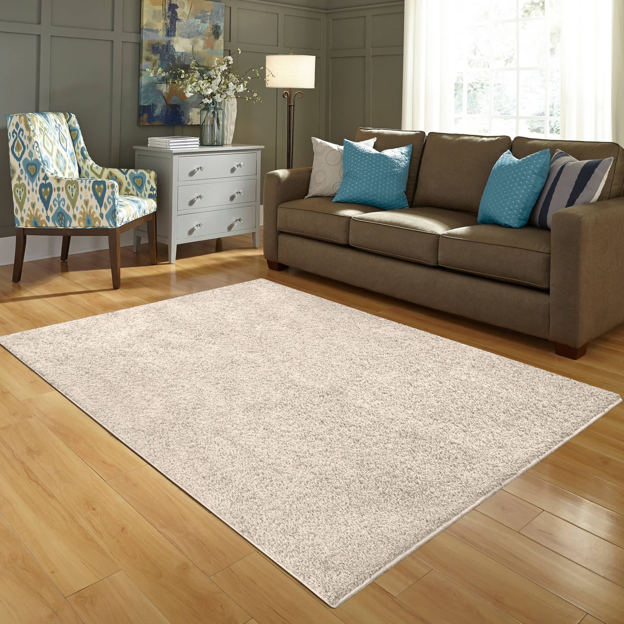 mainstays olefin shag area rug in multiple sizes and colors