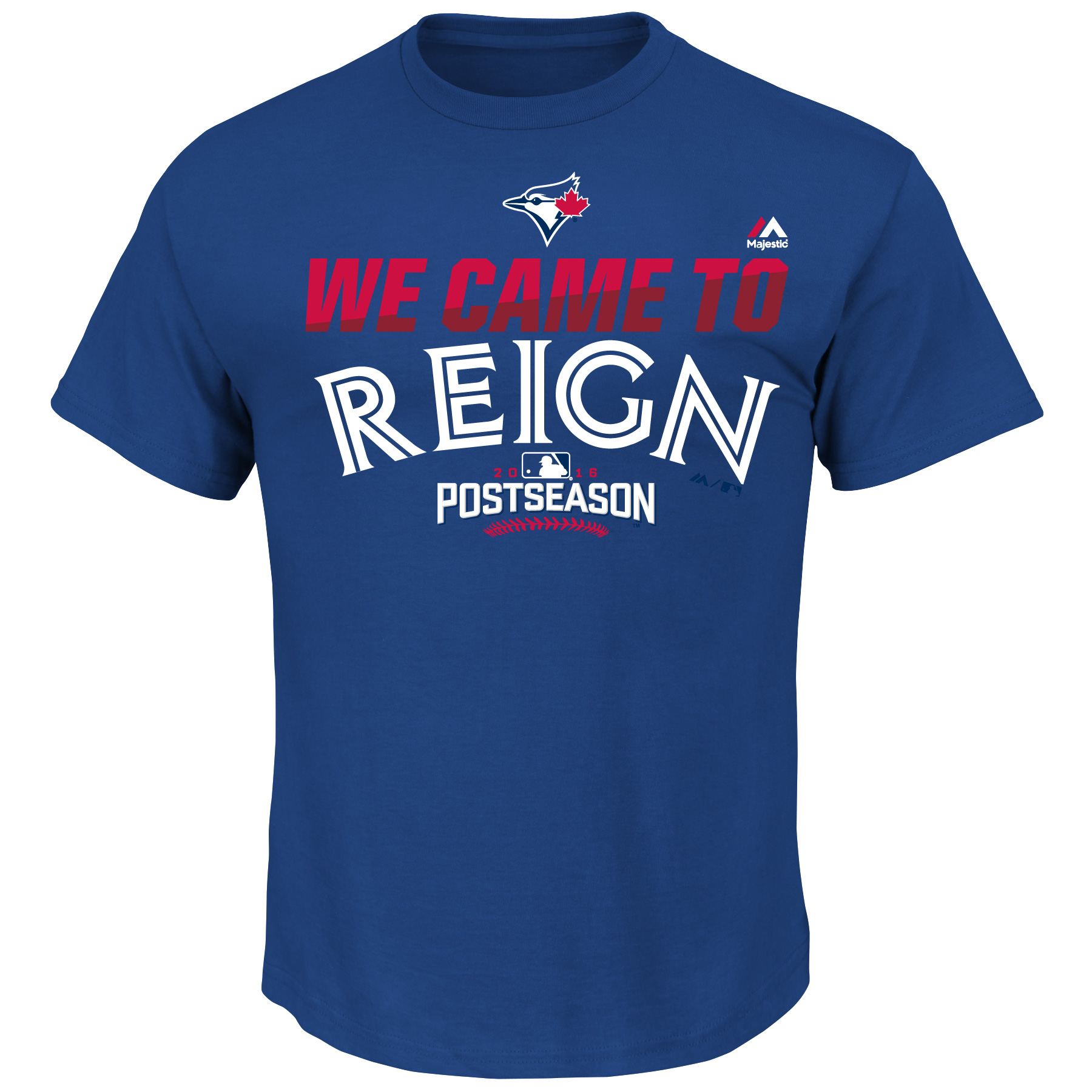 Toronto Blue Jays Majestic Big & Tall 2016 Postseason We Came to Reign Authentic Collection T-Shirt - Royal