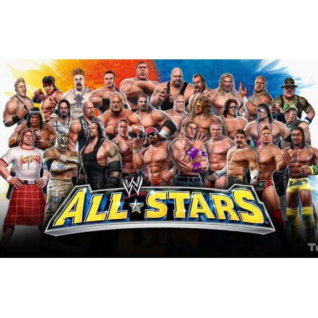 WWE Allstars Edible Frosting Sheet Cake Topper - 1/4 Sheet (Wwe Cake Decorations)