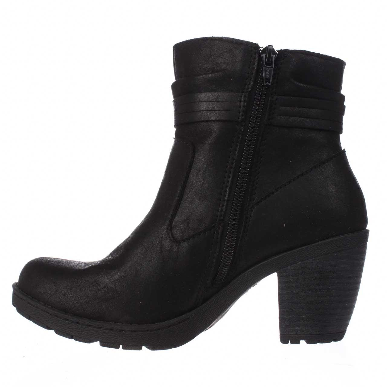 Womens Sole Born Alicudi Tassel Lug Sole Womens Ankle Boots - Black c142bd