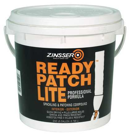 ZINSSER 04301 Patching Compound, 1 gal., Pail, White