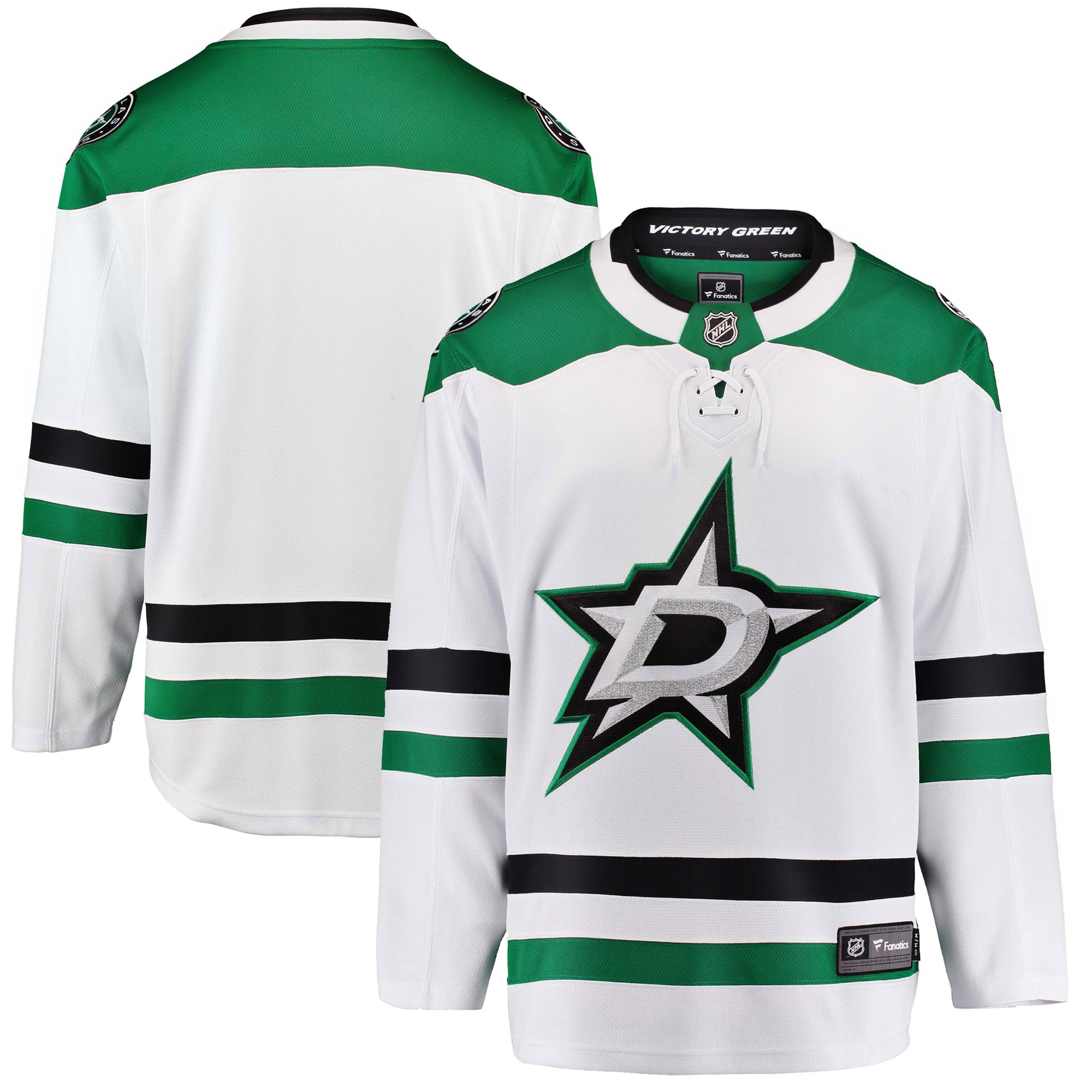Dallas Stars Fanatics Branded Breakaway Away Jersey - White
