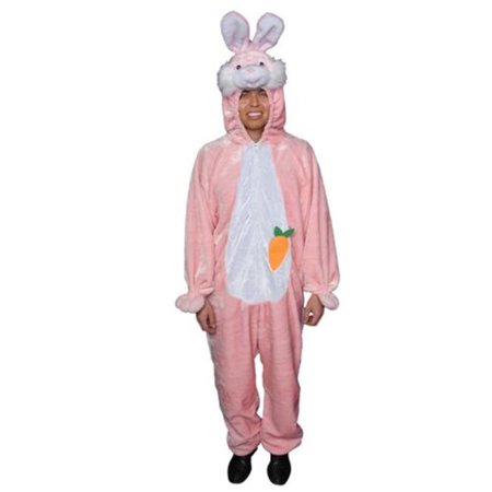 Dress Up America 320-Adult-P Adult Easter Bunny Costume in Pink - One Size Fits Most - Adult Easter Dresses
