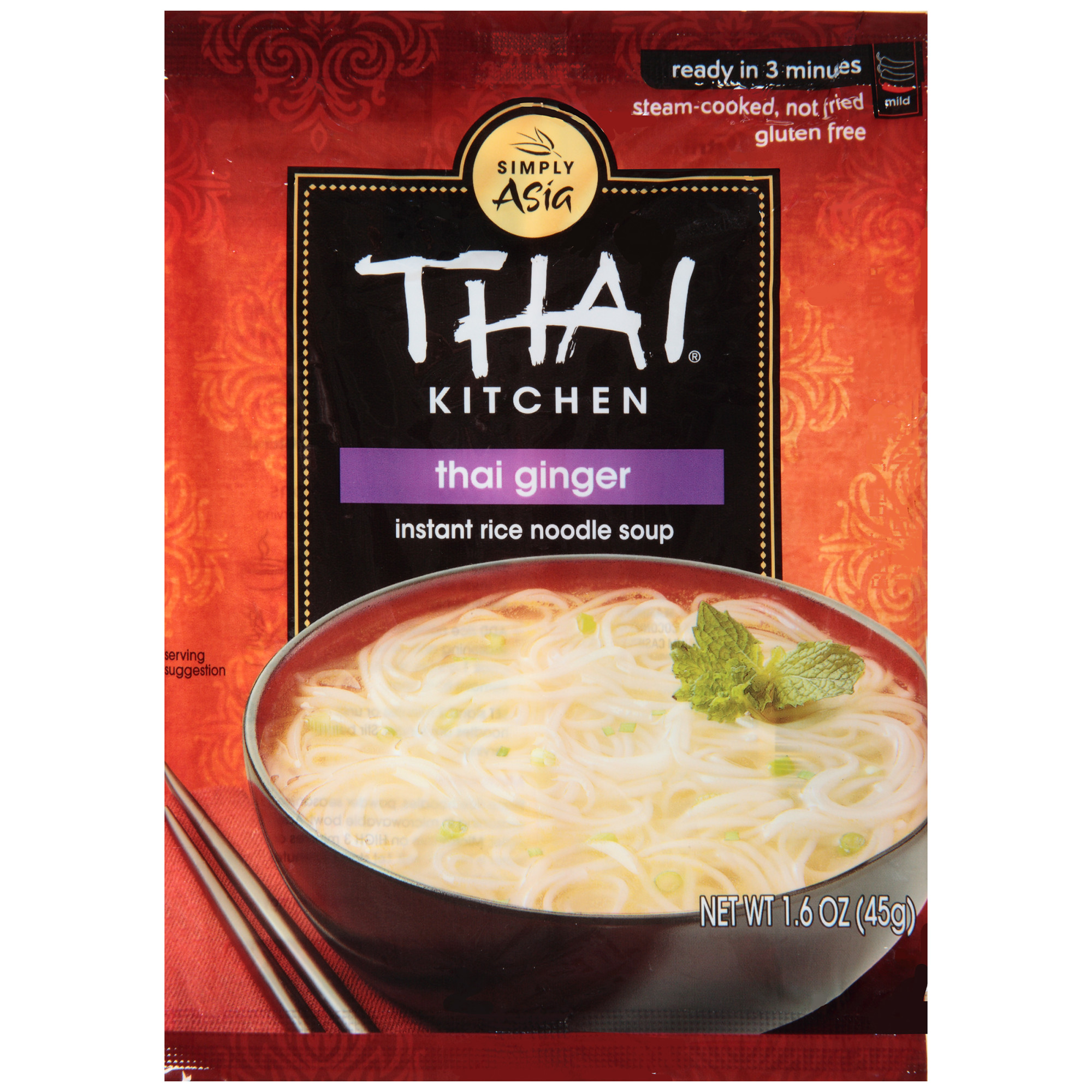 Thai Kitchen Gluten Free Thai Ginger Instant Rice Noodle Soup, 1.6 oz