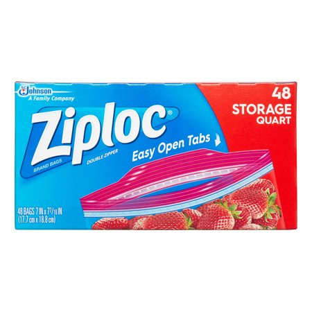 Ziploc Double Zipper Storage Bags Quart 48 Ct