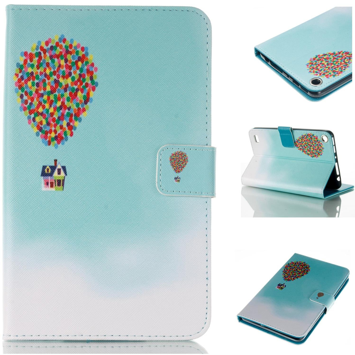 Fire 7-inch 2015 Case, Goodest Ultra Slim PU Leather Folio Folding Stand Cover with Magnetic Closure for All-New Amazon Kindle Fire HD 7 Tablet (5th Generation,2015 Release), Hot Air Balloon