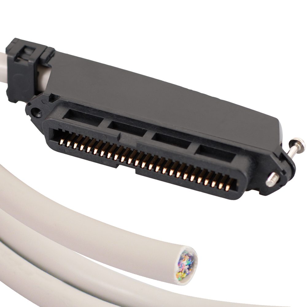 ICC 25-PAIR CABLE ASSEMBLY- F-BLUNT- 90-25