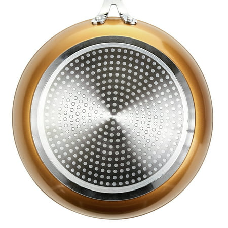 "Tasty 9.5"" Diamond Reinforced Non-Stick Frying Pan - Copper"