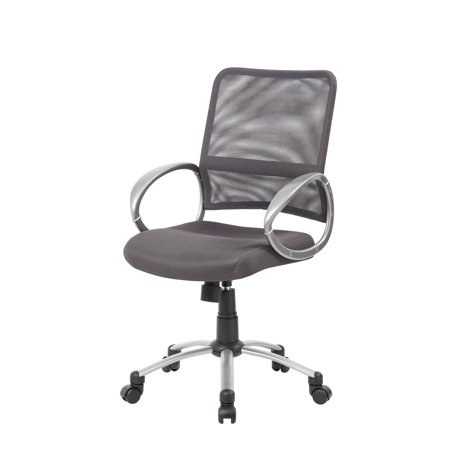 Grid Back Guest Chair (Boss Office Products Mesh Back W/ Pewter Finish Guest Reception Waiting Room Chair, Multiple Colors )