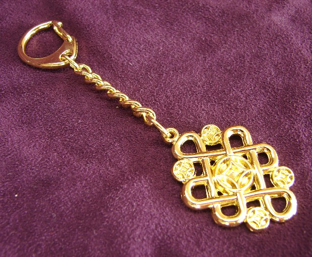 Mystic Knot With Coins Keychain