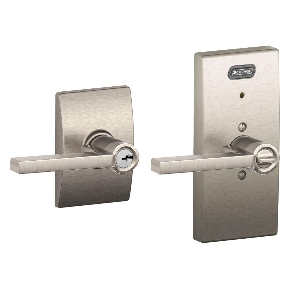 ingersoll rand fe51 lat 619 cen century collection latitude satin nickel keyed entry lever with