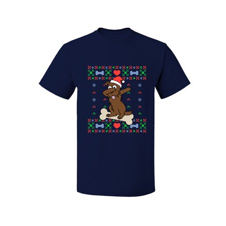 Dabbing Doggo Ugly Christmas Short Sleeve T Shirt