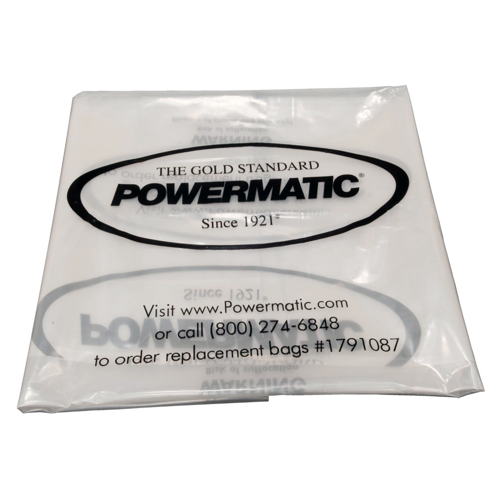 """Powermatic 1791087 20"""" Clear Collection Bags (Pack of 5)"""