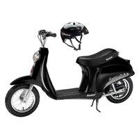Razor Pocket Mod Vapor Electric Scooter (Black) & Youth Sport Helmet (Black)