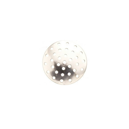 Perforated Disk (20mm Silver Plated perforated Disc Sold per pkg of 30. 1846Fd)