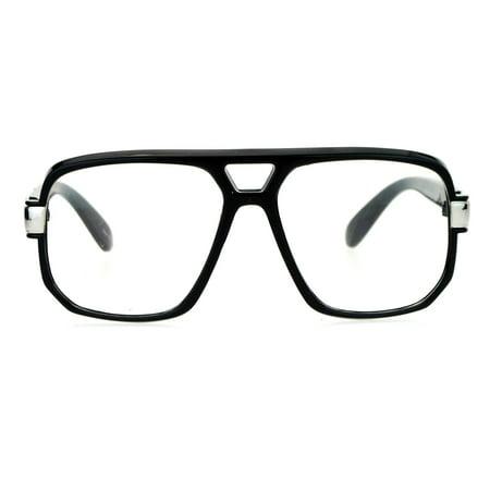 SA106 Retro Hip Hop Rapper Oversize Rectangular Mob Eye Glasses (Hip Glasses)