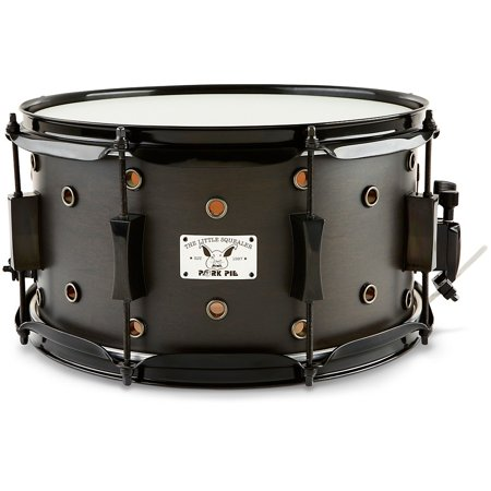 Pork Pie Little Squealer Snare Drum Satin Black Ebony 7 x 13 in. Black Marching Snare Drum