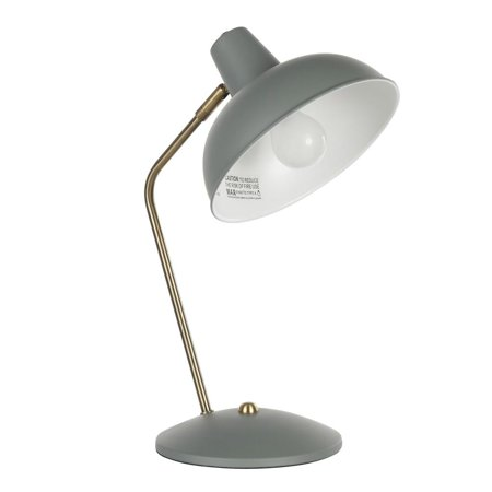 Darby Contemporary Table Lamp in Sage Green Metal with Gold Accent Sage Green Metal