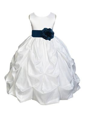 56ddedc99 Product Image Ekidsbridal Taffeta Bubble Pick-up White Flower Girl Dress  Weddings Summer Easter Dress Special Occasions