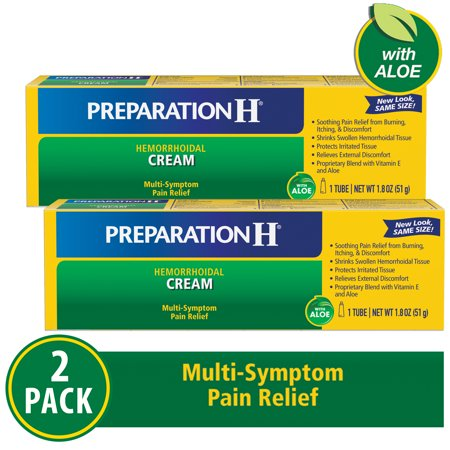 Preparation H Max Strength Cream -2 x1.8 oz (Best Hemorrhoid Cream Uk)