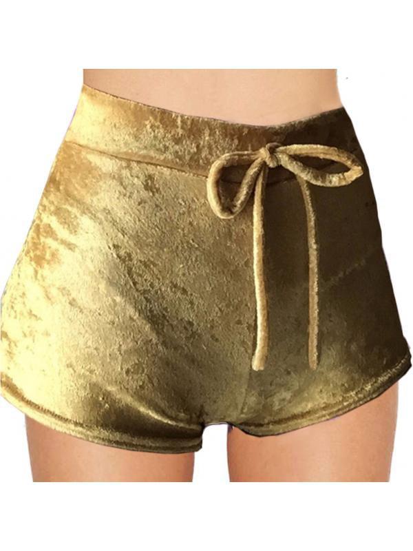 Topumt Women Elastic Velvet High Waist Drawstring Sports Pants Bottoms
