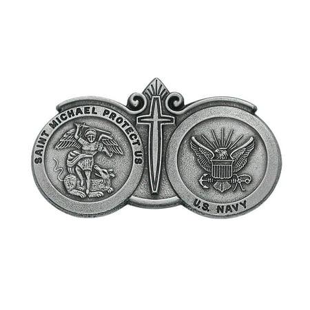 St. Michael U.S. Navy Visor Clip, By McVan