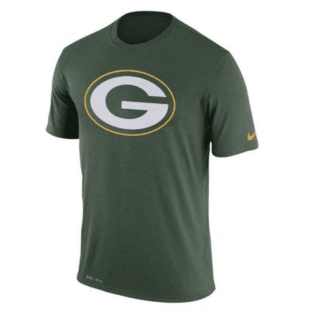 Men's Nike Green Green Bay Packers Legend Logo Essential 3 Performance T-Shirt