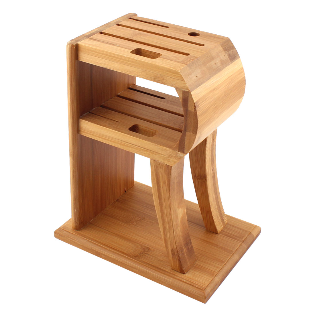 Household Kitchen Bamboo Handcrafted 5 Slots Cutlery Cutter Holder Storage Box