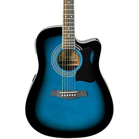 Ibanez Acoustic Electric Guitar - Ibanez V70CE Acoustic-Electric Guitar Transparent Blue