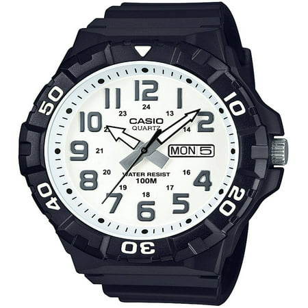 Men's Dive Style Watch, White Dial