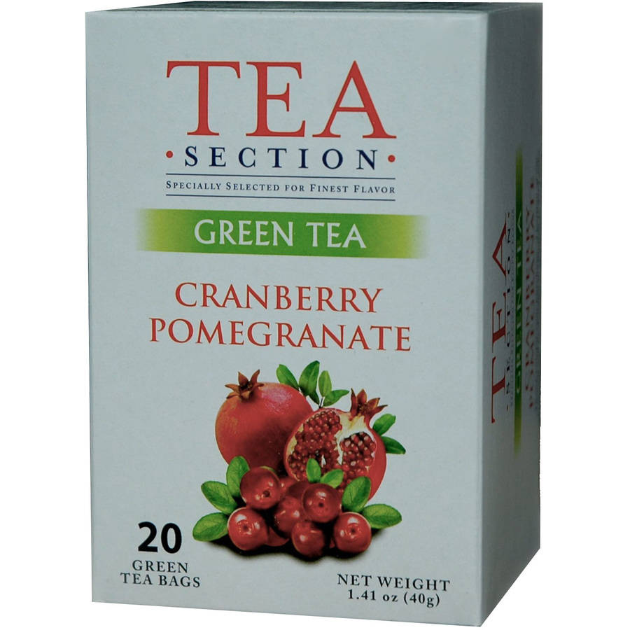 Tea Section Cranberry Pomegranate Green Tea Bags, 20 count