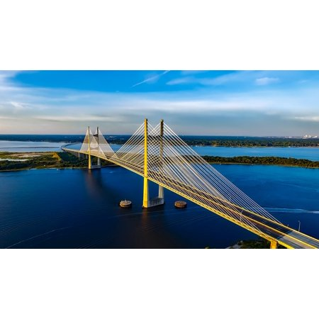 LAMINATED POSTER Jacksonville Dames Point Bridge Florida Poster Print 24 x 36](Halloween Store Jacksonville Nc)