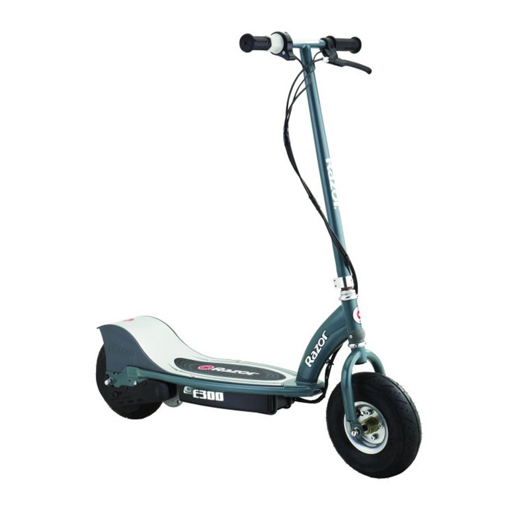 Razor E300 Electric 24 Volt Motorized Ride On Kids Scooter, Gray by