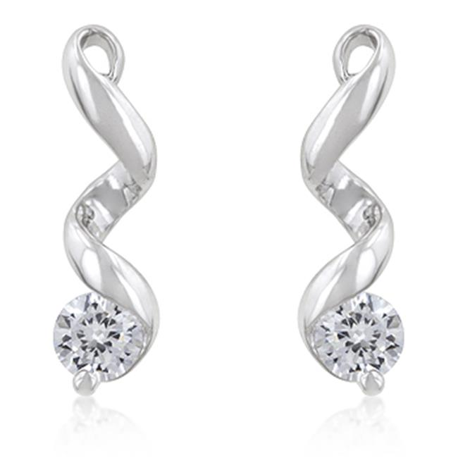 Kate Bissett E50011R-S01 Solitaire Drop Earrings