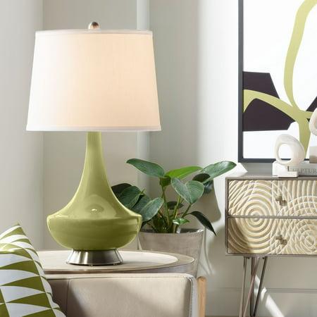 Color + Plus Rural Green Gillan Glass Table Lamp