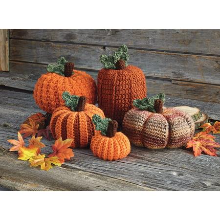 - Mary Maxim Picking A Pumpkin Crochet Kit Yarn