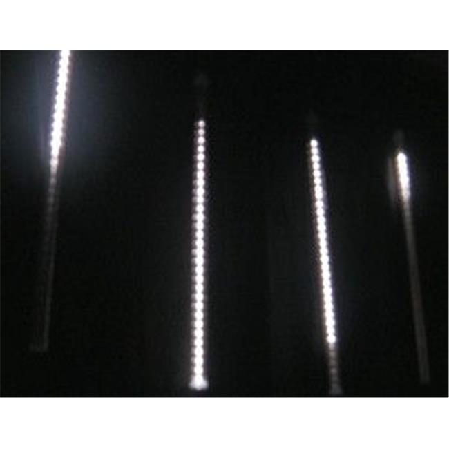 Queens of Christmas C9-SFTUBE-PW-01 12 inch E17 Base Snowfall Tube - Pure White  16 LEDs per Tube