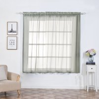 "Efavormart 2 Panels Sheer Organza Window Drapery with Rod Pocket Window Treatment Curtain Panels For Window Decoration 52""Wx64""L"