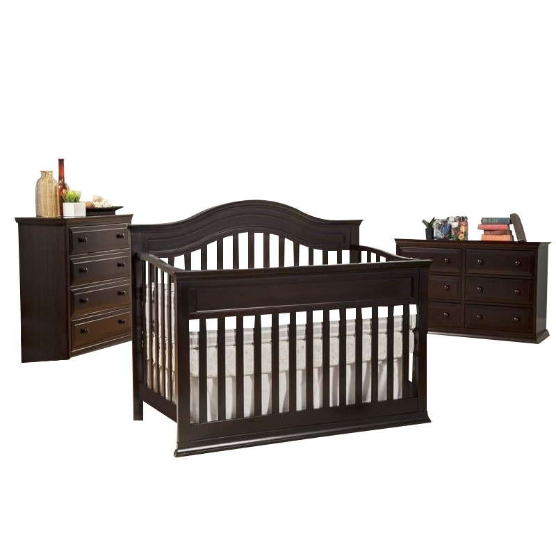 Davinci Brook 4 In 1 Convertible Crib 3 Piece Set In Dark