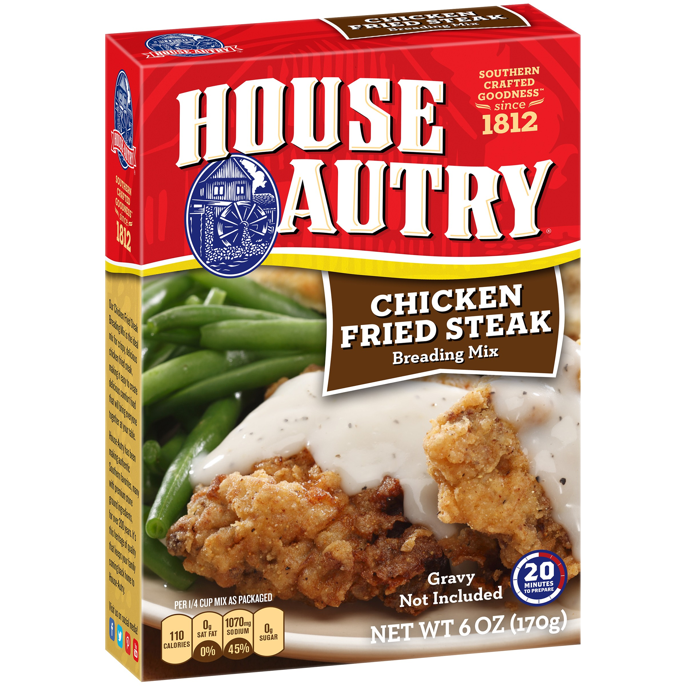 House Autry Chicken Fried Steak Breading Mix, 6 oz