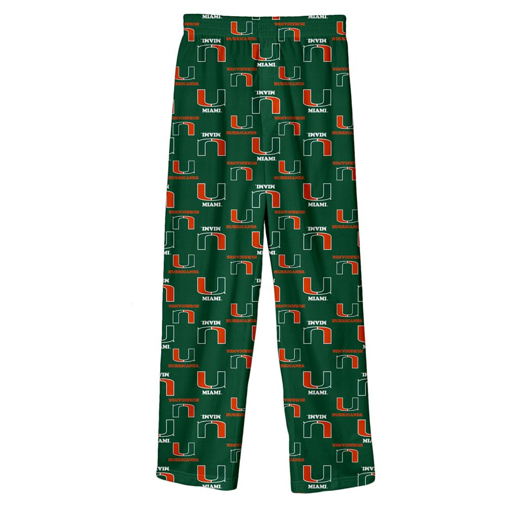 Youth University of Miami Hurricanes Pajama Pant Boys Sleep Bottoms