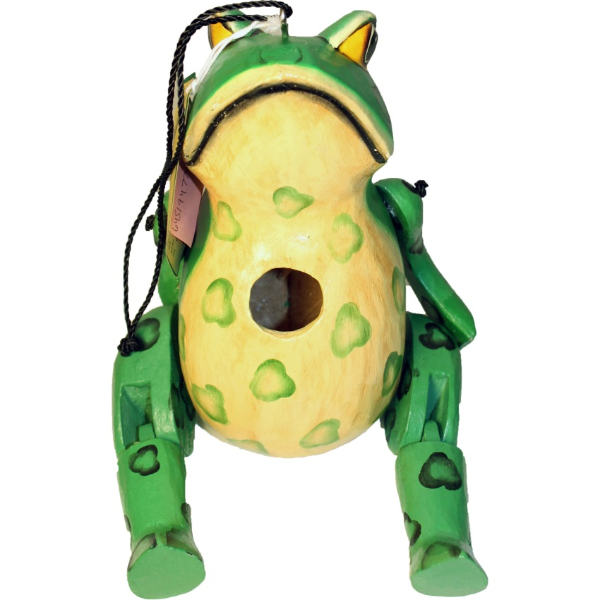 GORDO HINGED FROG BIRD HOUSE - SE3880405, (Pack of 1)