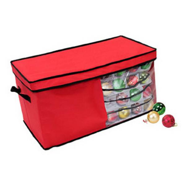 Dyno Seasonal Solutions 77016 1CC Christmas Ornament Storage Box, Red, 82 Ct