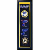 "NHL 14"" x 37"" Banner Frame, St. Louis Blues"