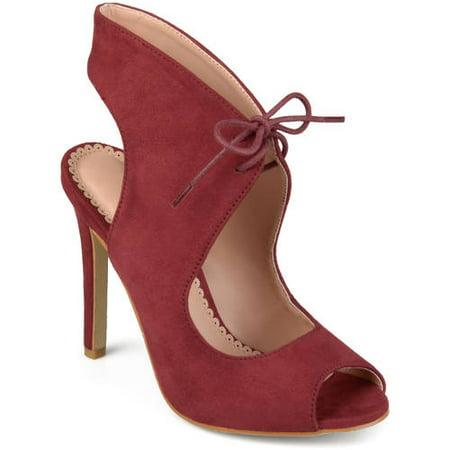 bbaed0c06d70b Women's Ankle Strap Faux Suede Open Toe Lace-up High Heels - Walmart.com