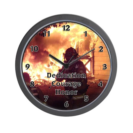 "CafePress - Firefighter T-Shirts And Gift - Unique Decorative 10"" Wall Clock"