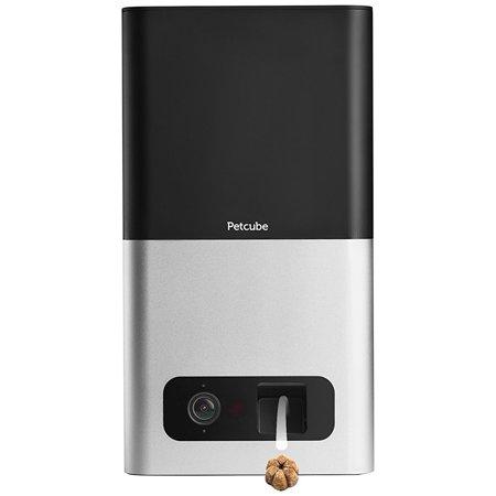 Petcube Bites Wi-Fi Pet Camera with Treat Dispenser - Matte Silver