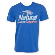 Natural Light 24273L Mens Blue Logo T-Shirt, Large