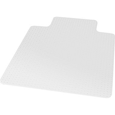 staples flat pile carpet chair mat 36 x 48 lip